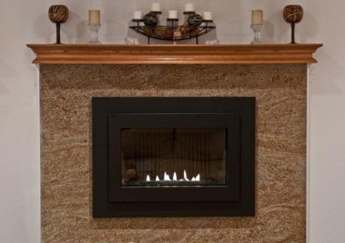 Brown granite fireplace anchorage alaska