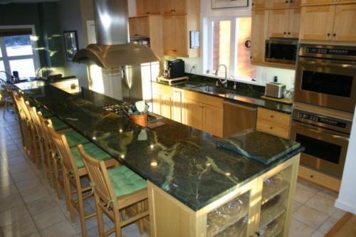 Kitchen dark slab countertop tiling tile anchorage alaska